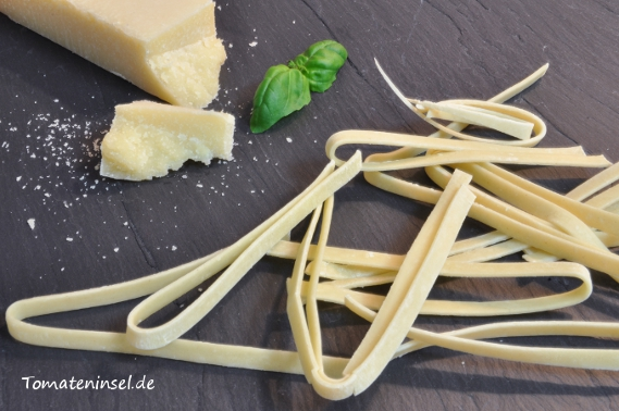 selbst gemachte Fettuccine